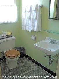 ocean park motel, san francisco, bathroom