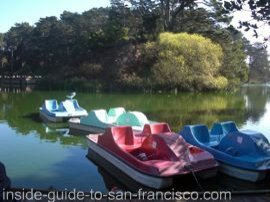 stow lake pedal boats, golden gate park