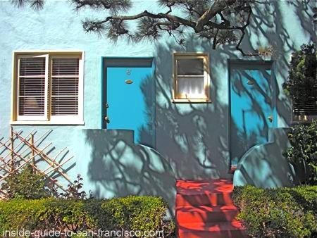 ocean park motel, san francisco, courtyard