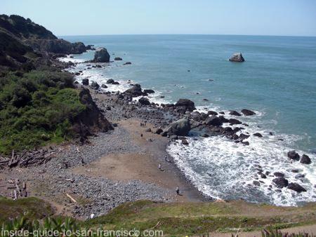 san francisco beaches, lands end, miles rock beach