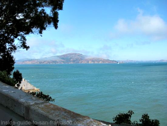 view of angel island from alcatraz