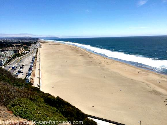 view of ocean beach, sutro heights park, san francisco