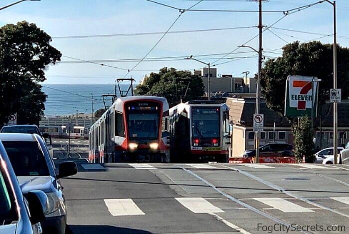 N-Judah trolley in San Francisco