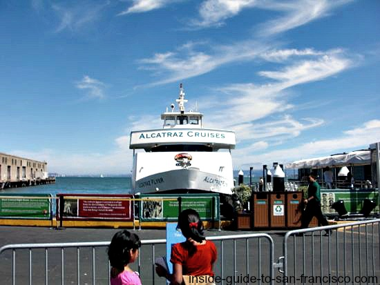 alcatraz ferry at pier 33, alcatraz landing