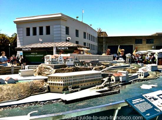 alcatraz landing, pier 33, san francisco embarcadero, alcatraz model