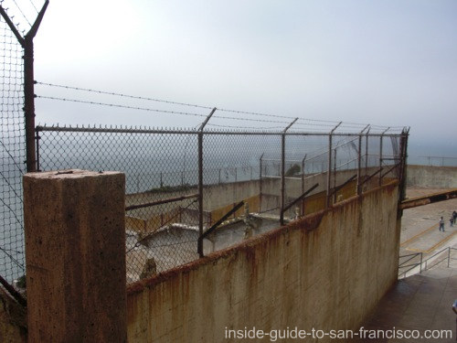 recreation yard on alcatraz
