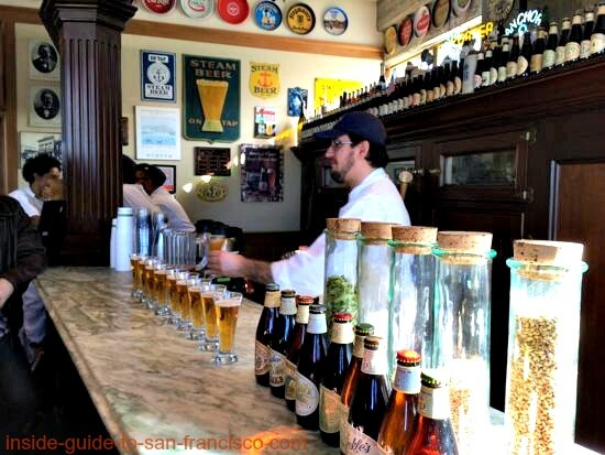 beer tasting, anchor steam brewery, san francisco