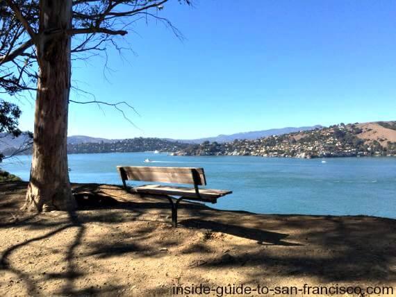 angel island bench view