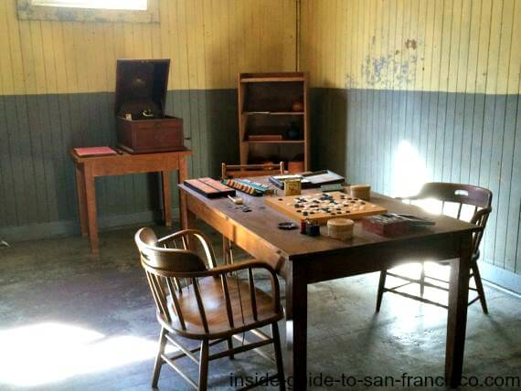 angel island san francisco, game room, immigration stations