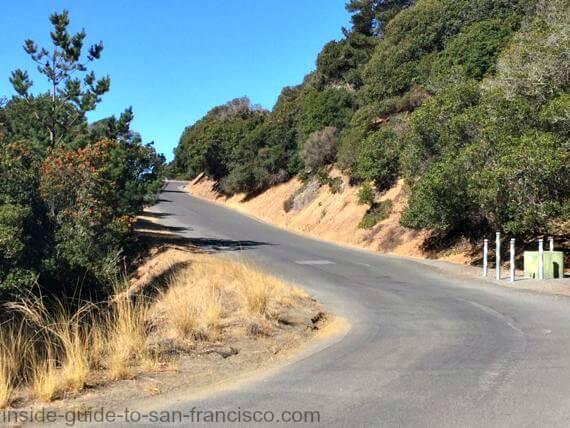angel island san francisco steep hill