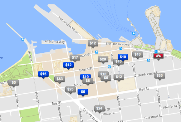 bestparking.com parking app map