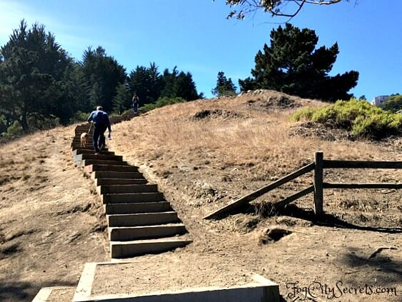 steep stairs on billy goat hill