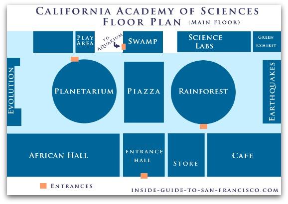 california academy of sciences floorplan