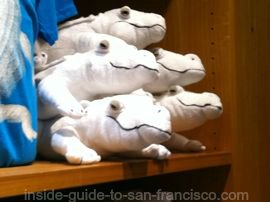 stuffed animals, white alligators, california academy of sciences