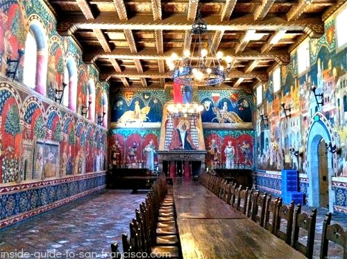 great hall, castello di amorosa