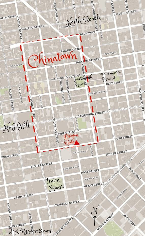 map of san francisco chinatown