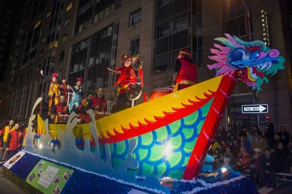 dragon boat in san francisco chinese new years parade 2014