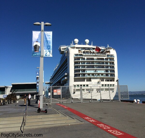 Cruise ship ruby Princess at Pier 27, San Francisco
