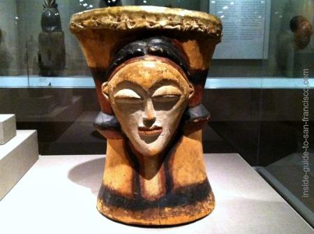 african drum, gabon, de young museum san francisco