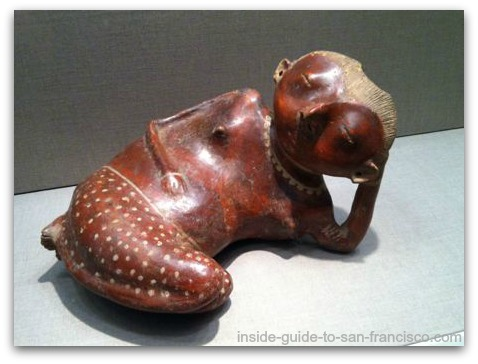 de young museum san francisco, mesoamerican ceramics, reclining woman