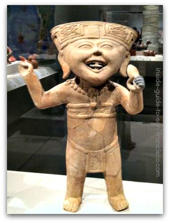 de young museum san francisco, mesoamerican ceramics, smiling figure