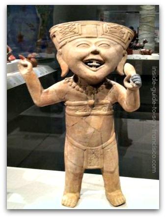 de young museum san francisco, mesoamerican ceramics, smiling figure