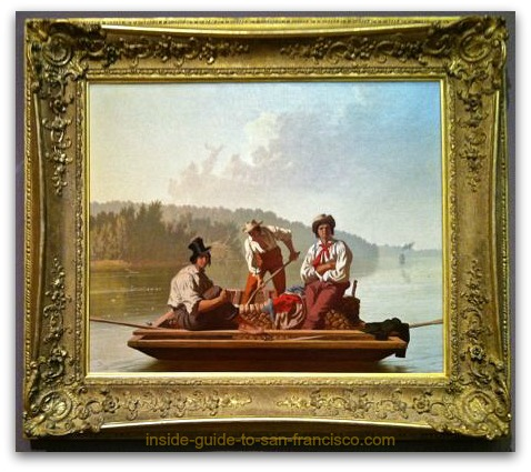 boatmen on the missouri, george caleb bingham, de young museum san francisco