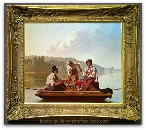 boatmen on the missouri, george caleb bingham, de young museum san francisco