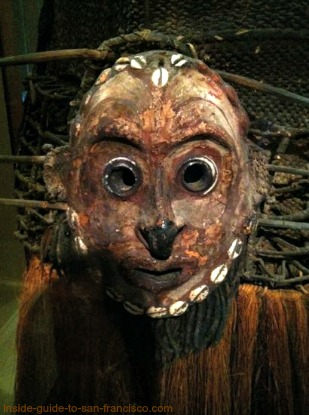 new guinea mask, de young museum, san francisco