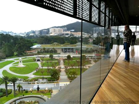 observation floor, de young museum tower, san francisco