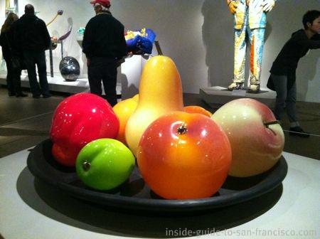 de young museum san francisco, giant fruit