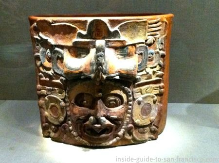 de young museum san francisco, mayan ceramic container