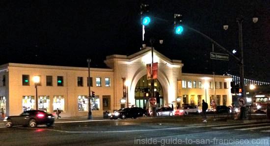 Exploratorium at night, exhibits at night