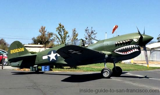 curtiss p40 warhawk fighter plane, airplane rides