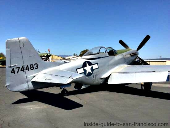 p51 mustang fighter plane, airplane rides sonoma