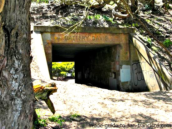 tunnel entrance to old battery davis, at fort funston