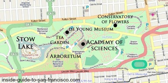 San Francisco Maps – San Francisco Tourist Attractions Map