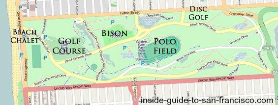 map of golden gate park, western half