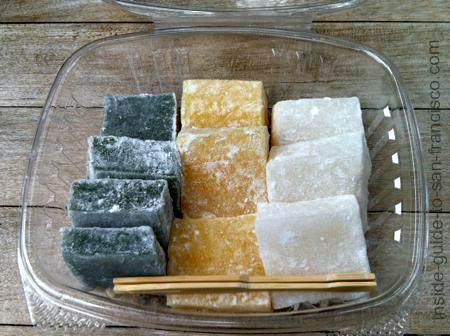 kuzomochi rice cakes, japanese tea garden