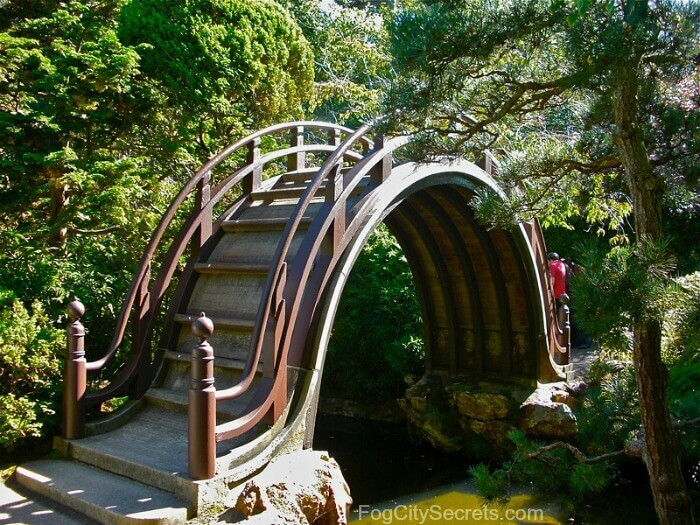 japanese tea garden, san francisco, arched drum bridge