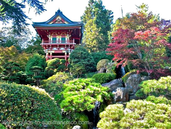 japanese tea garden, san francisco, pagodas
