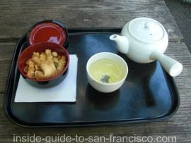 japanese tea garden, san francisco, tea tray
