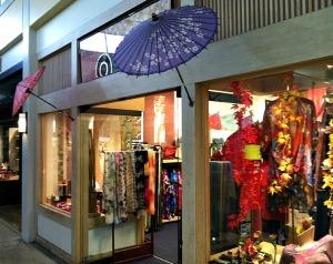 san francisco japantown shop with parasols
