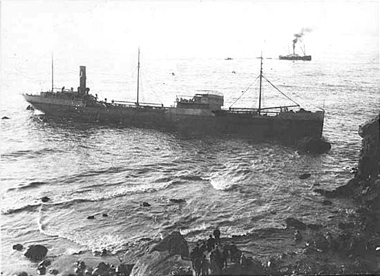 shipwreck at lands end, ss lyman stewart, san francisco, 1922