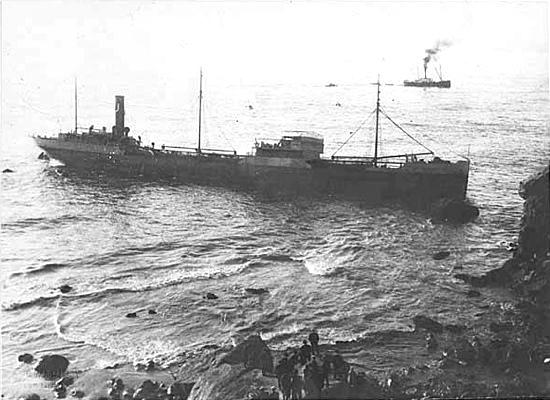 shipwreck at lands end, ss lyman stewart, san francisco, 1922