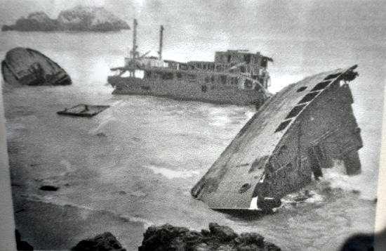 shipwreck at lands end, ss ohioan, san francisco, 1936