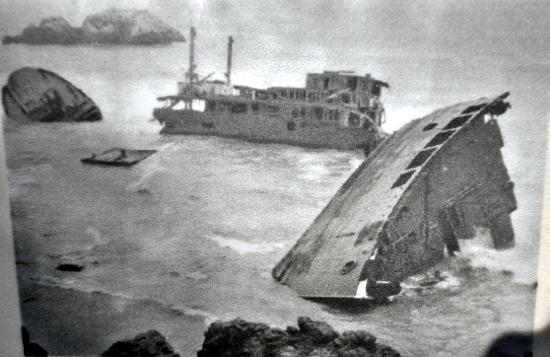 shipwreck at lands end, ss ohioan, san francisco, 1936
