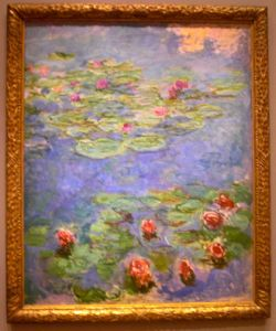 legion of honor san francisco, monet, lilies