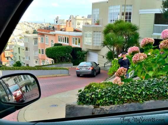 driving down lombard street, san francisco