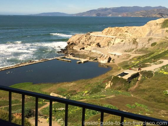 view of sutro baths, from louis restaurant, san francisco